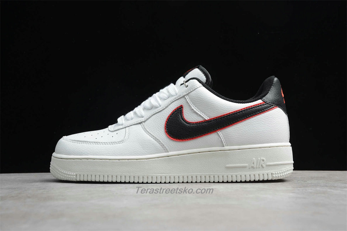 Nike Air Force 1 Low 07 HH CJ6105 101 Hvid / Sort / Rød Sko