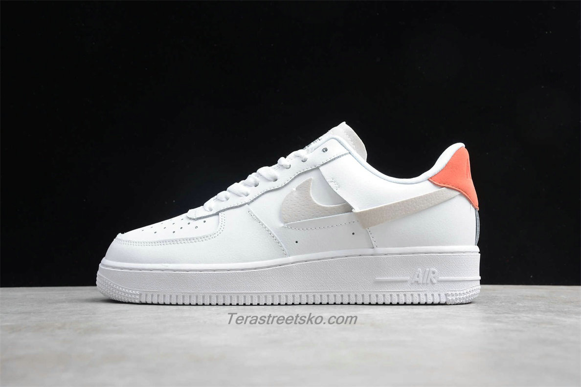 Nike Air Force 1 07 Low LX 898889103 Hvid / Orange Sko