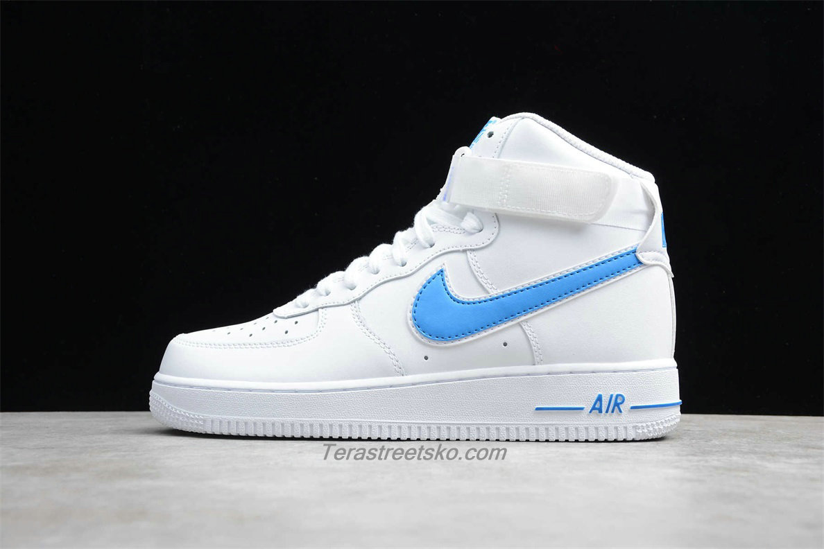 Nike Air Force 1 High 07 3 AT4141 102 Hvid / Lyseblå Sko
