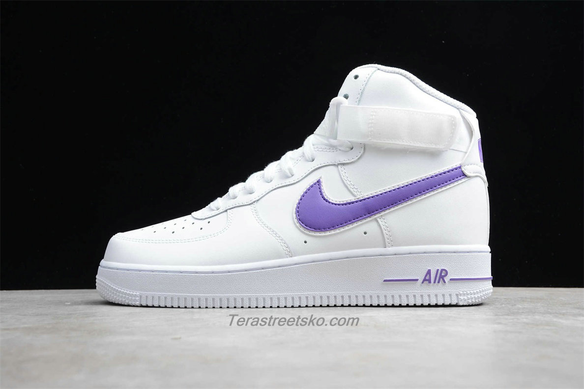 Nike Air Force 1 High 07 3 AT4141 103 Hvid / Lilla Sko