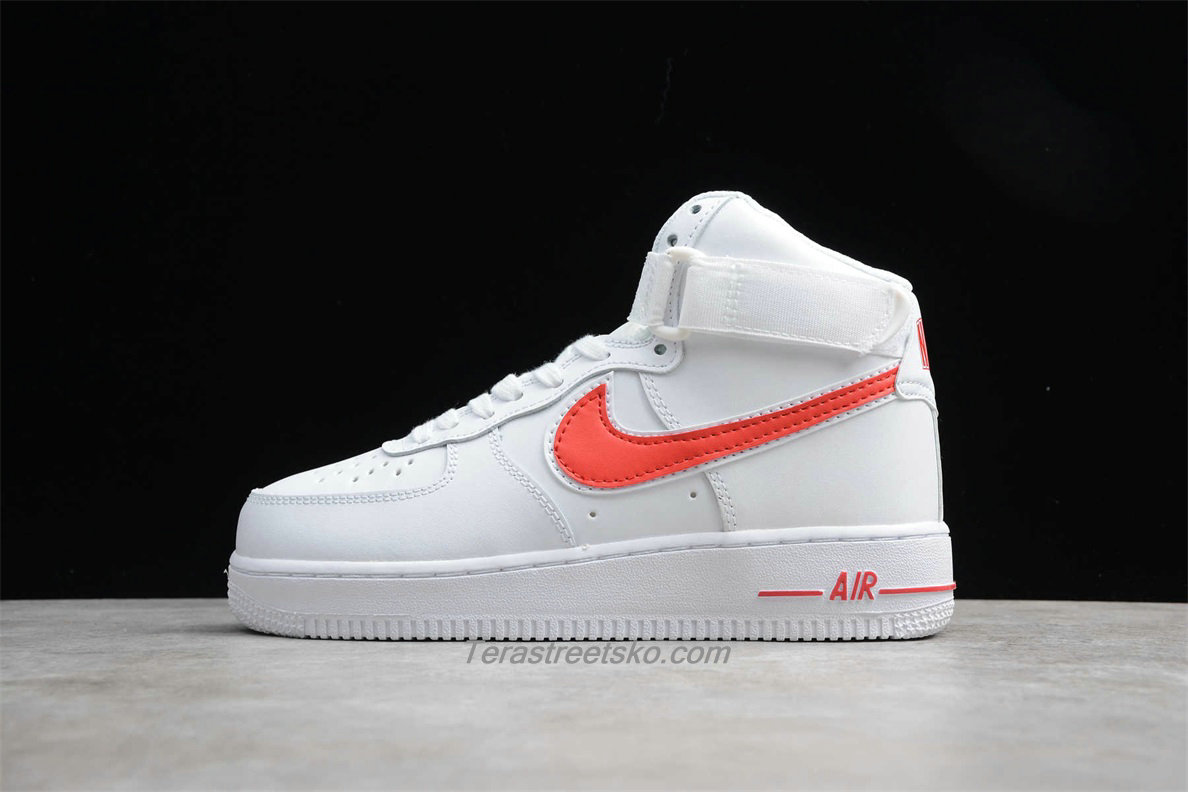 Nike Air Force 1 High 07 3 AT4141 107 Hvid / Rød Sko