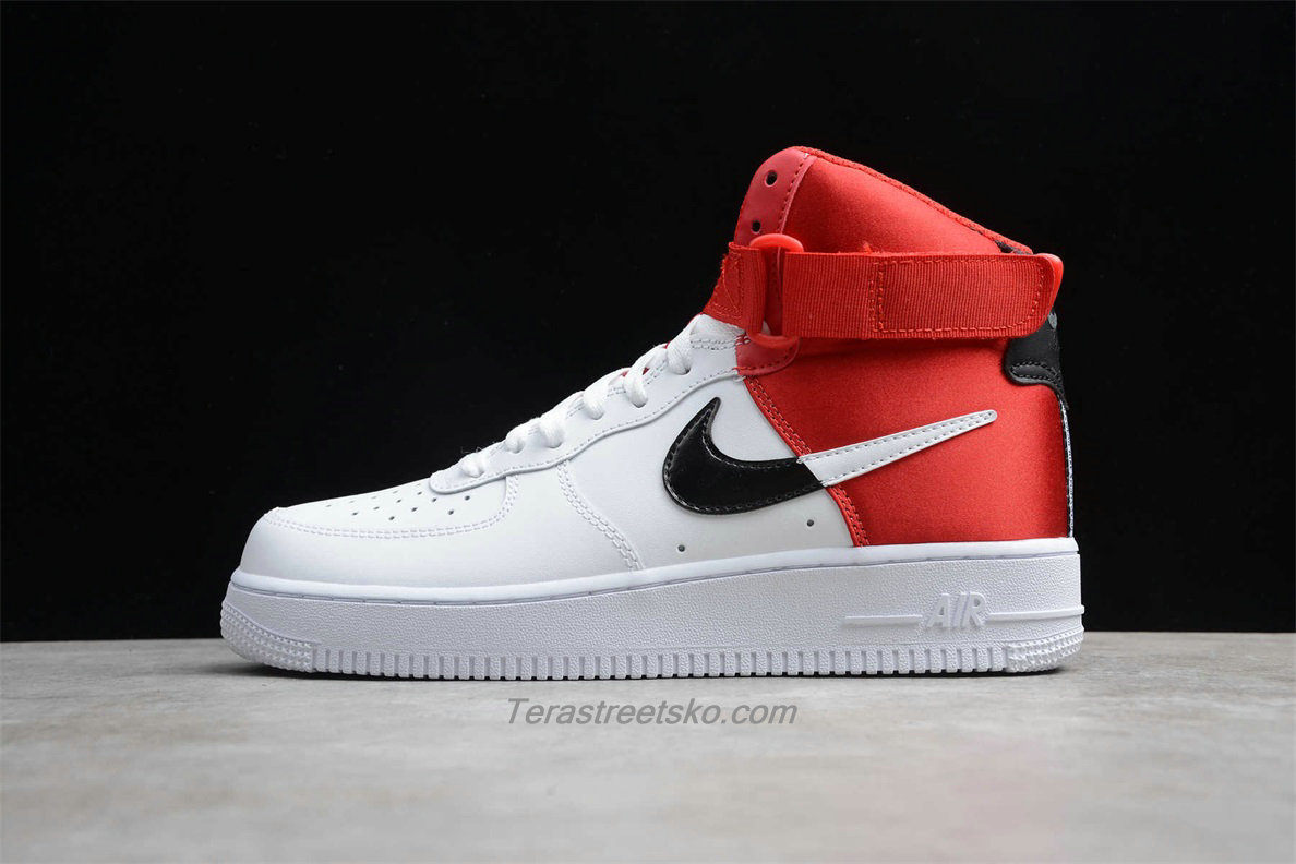 Nike Air Force 1 High 07 LV8 BQ4591 600 Hvid / Sort / Rød Sko