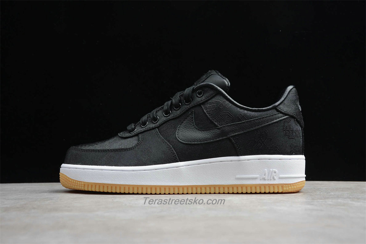Nike Air Force 1 Low PRM CLOT CZ3986 001 Sort Sko