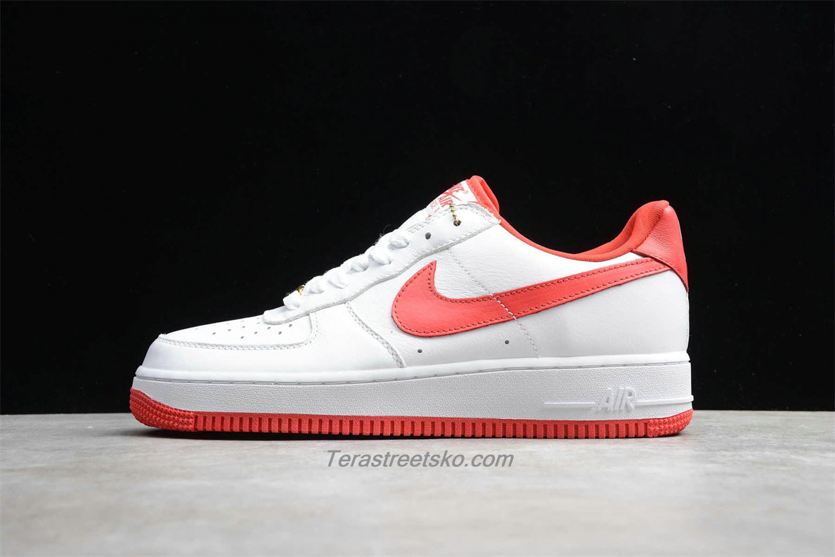 Nike Air Force 1 Low RETRO CT16 QS AQ5107 100 Hvid / Rød Sko