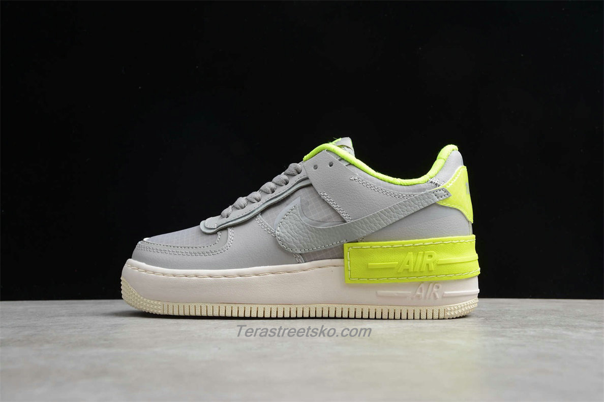 Nike Air Force 1 Shadow SE CQ3317 002 Dame Grå / Grøn Sko
