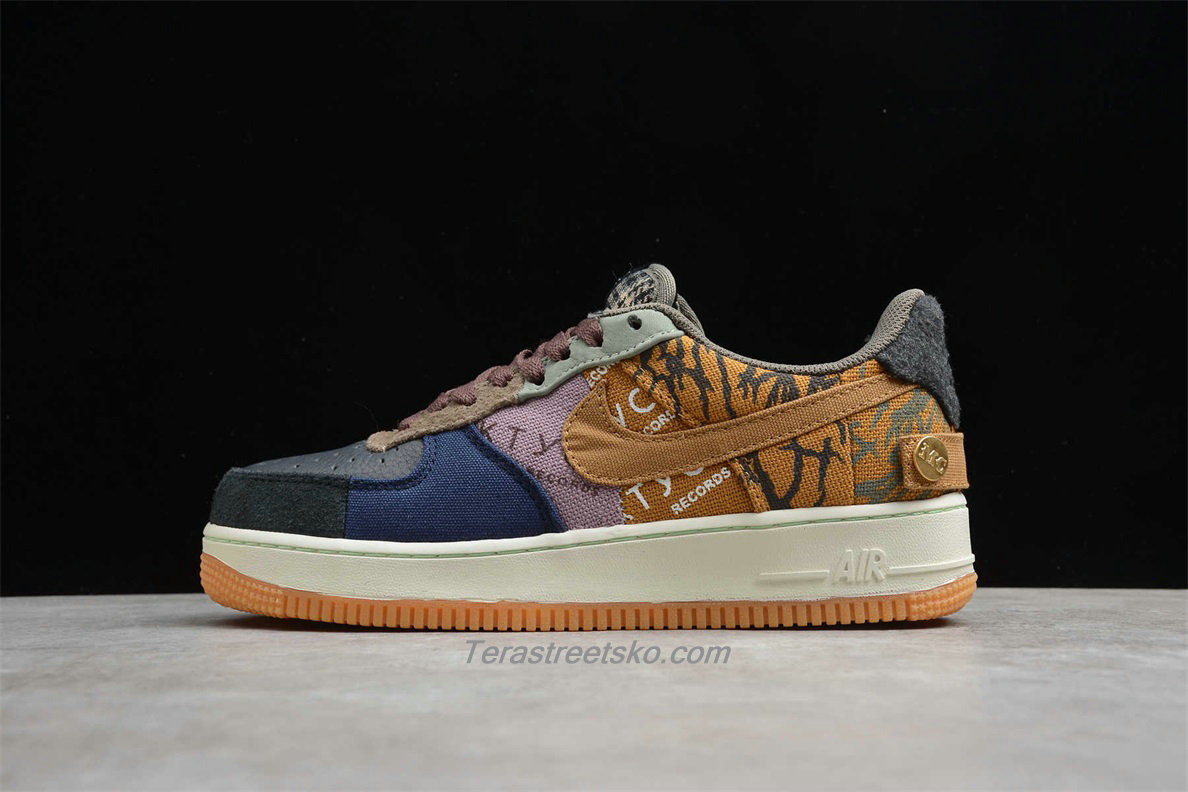 Nike Air Force 1 Low TRAVIS SCOTT CN2405 900 Sort / Blå / Khaki Sko